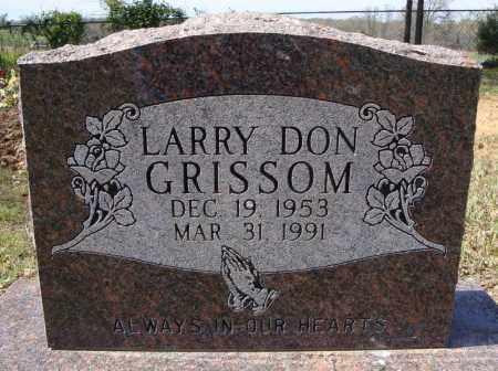 GRISSOM, LARRY DON - Faulkner County, Arkansas | LARRY DON GRISSOM - Arkansas Gravestone Photos