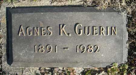 GUERIN, AGNES K. - Faulkner County, Arkansas | AGNES K. GUERIN - Arkansas Gravestone Photos