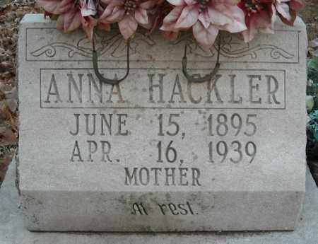 HACKLER, ANNA - Faulkner County, Arkansas | ANNA HACKLER - Arkansas Gravestone Photos
