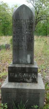PRICE HACKLER, ELIZABETH - Faulkner County, Arkansas | ELIZABETH PRICE HACKLER - Arkansas Gravestone Photos