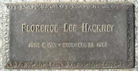 HACKNEY, FLORENCE LEE - Faulkner County, Arkansas | FLORENCE LEE HACKNEY - Arkansas Gravestone Photos