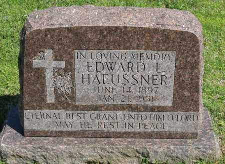 HAEUSSNER, EDWARD L. - Faulkner County, Arkansas | EDWARD L. HAEUSSNER - Arkansas Gravestone Photos