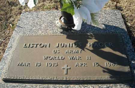 HAGER (VETERAN WWII), LISTON JUNIUS - Faulkner County, Arkansas | LISTON JUNIUS HAGER (VETERAN WWII) - Arkansas Gravestone Photos