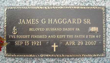 HAGGARD, SR (VETERAN), JAMES G - Faulkner County, Arkansas | JAMES G HAGGARD, SR (VETERAN) - Arkansas Gravestone Photos