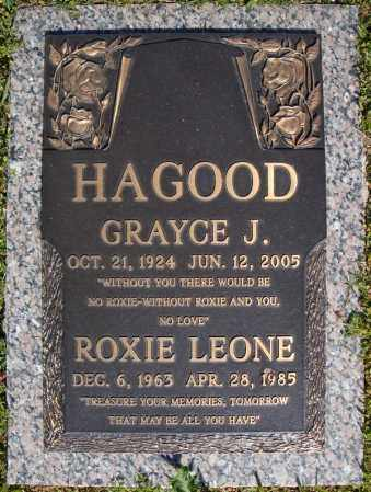 HAGOOD, GRAYCE J. - Faulkner County, Arkansas | GRAYCE J. HAGOOD - Arkansas Gravestone Photos