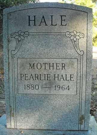 HALE, PEARLIE - Faulkner County, Arkansas   PEARLIE HALE - Arkansas Gravestone Photos