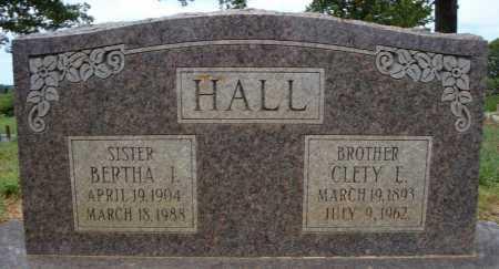 HALL, BERTHA I. - Faulkner County, Arkansas | BERTHA I. HALL - Arkansas Gravestone Photos
