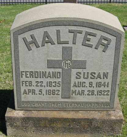 HALTER, FERDINAND - Faulkner County, Arkansas | FERDINAND HALTER - Arkansas Gravestone Photos
