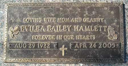 BAILEY HAMLETT, EVILEA - Faulkner County, Arkansas | EVILEA BAILEY HAMLETT - Arkansas Gravestone Photos