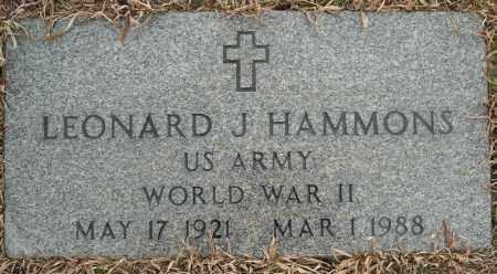 HAMMONS (VETERAN WWII), LEONARD J - Faulkner County, Arkansas | LEONARD J HAMMONS (VETERAN WWII) - Arkansas Gravestone Photos