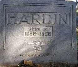HARDIN, JOEL B. - Faulkner County, Arkansas | JOEL B. HARDIN - Arkansas Gravestone Photos