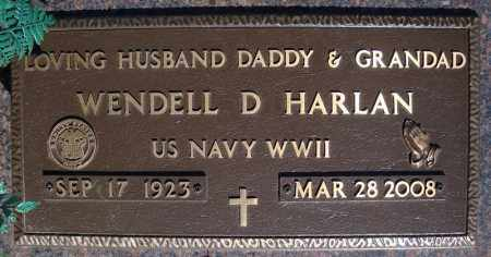 HARLAN (VETERAN WWII), WENDELL D - Faulkner County, Arkansas | WENDELL D HARLAN (VETERAN WWII) - Arkansas Gravestone Photos