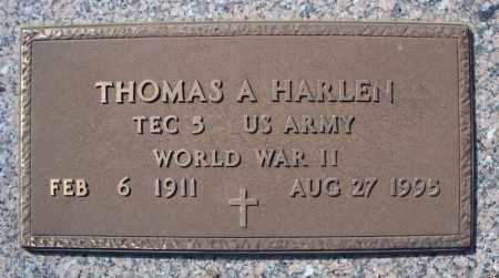 HARLEN (VETERAN WWII), THOMAS A - Faulkner County, Arkansas   THOMAS A HARLEN (VETERAN WWII) - Arkansas Gravestone Photos
