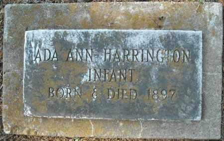HARRINGTON, ADA ANN - Faulkner County, Arkansas   ADA ANN HARRINGTON - Arkansas Gravestone Photos
