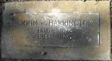 HARRINGTON, JOHN W. - Faulkner County, Arkansas   JOHN W. HARRINGTON - Arkansas Gravestone Photos