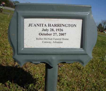 HARRINGTON, JUANITA - Faulkner County, Arkansas | JUANITA HARRINGTON - Arkansas Gravestone Photos