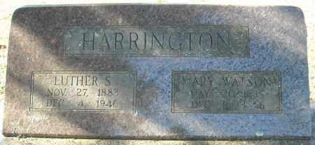 WATSON HARRINGTON, MARY - Faulkner County, Arkansas   MARY WATSON HARRINGTON - Arkansas Gravestone Photos