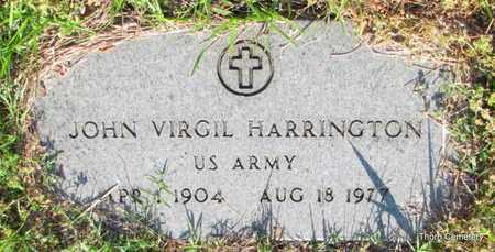 HARRINGTON (VETERAN), JOHN VIRGIL - Faulkner County, Arkansas | JOHN VIRGIL HARRINGTON (VETERAN) - Arkansas Gravestone Photos
