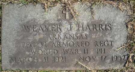 HARRIS (VETERAN WWII), WEAVER J - Faulkner County, Arkansas | WEAVER J HARRIS (VETERAN WWII) - Arkansas Gravestone Photos