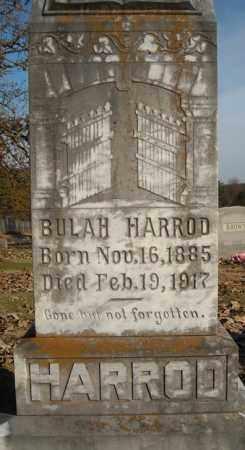 HARROD, BULAH - Faulkner County, Arkansas | BULAH HARROD - Arkansas Gravestone Photos