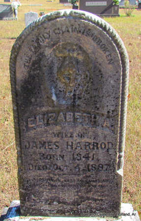 HARROD, ELIZABETH A. - Faulkner County, Arkansas   ELIZABETH A. HARROD - Arkansas Gravestone Photos