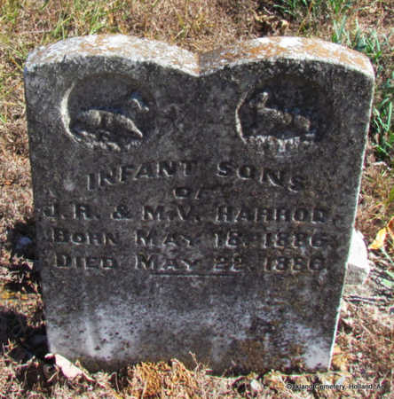 HARROD, INFANT SON (TWIN) - Faulkner County, Arkansas | INFANT SON (TWIN) HARROD - Arkansas Gravestone Photos