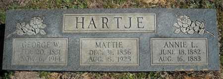 HARTJE, GEORGE W. - Faulkner County, Arkansas | GEORGE W. HARTJE - Arkansas Gravestone Photos