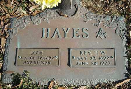 HAYES, REV., T.W. - Faulkner County, Arkansas | T.W. HAYES, REV. - Arkansas Gravestone Photos