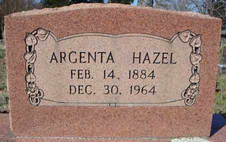 HAZEL, ARGENTA - Faulkner County, Arkansas | ARGENTA HAZEL - Arkansas Gravestone Photos