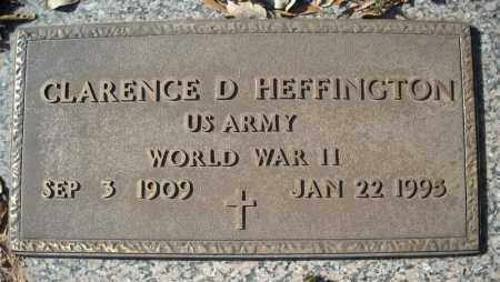 HEFFINGTON (VETERAN WWII), CLARENCE D - Faulkner County, Arkansas | CLARENCE D HEFFINGTON (VETERAN WWII) - Arkansas Gravestone Photos
