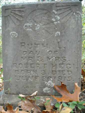 HEGI, RUTH L. - Faulkner County, Arkansas | RUTH L. HEGI - Arkansas Gravestone Photos