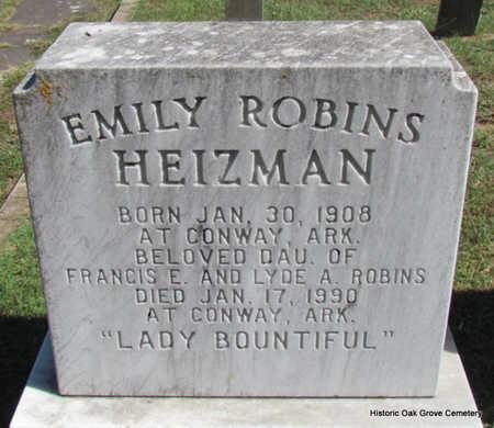ROBINS HEIZMAN, EMILY - Faulkner County, Arkansas   EMILY ROBINS HEIZMAN - Arkansas Gravestone Photos