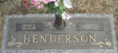 HENDERSON, PAUL D. - Faulkner County, Arkansas | PAUL D. HENDERSON - Arkansas Gravestone Photos