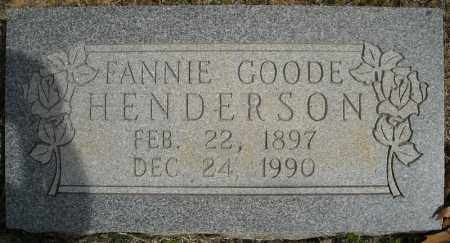 GOODE HENDERSON, FANNIE VELMA - Faulkner County, Arkansas | FANNIE VELMA GOODE HENDERSON - Arkansas Gravestone Photos