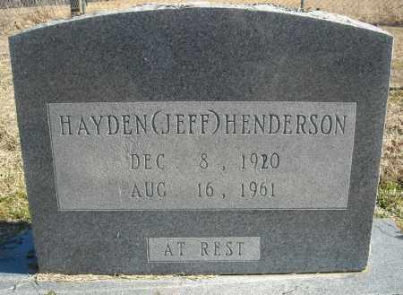 """HENDERSON, HAYDEN """"JEFF"""" (TWIN) - Faulkner County, Arkansas   HAYDEN """"JEFF"""" (TWIN) HENDERSON - Arkansas Gravestone Photos"""