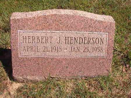 HENDERSON, HERBERT J - Faulkner County, Arkansas | HERBERT J HENDERSON - Arkansas Gravestone Photos