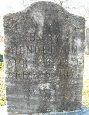 HENDERSON, INFANT (1876) - Faulkner County, Arkansas | INFANT (1876) HENDERSON - Arkansas Gravestone Photos