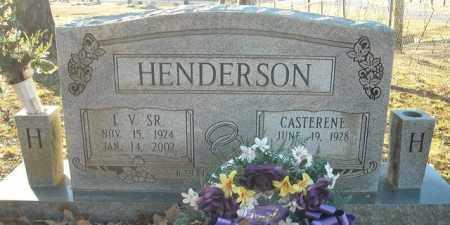 HENDERSON, SR., L.V. - Faulkner County, Arkansas | L.V. HENDERSON, SR. - Arkansas Gravestone Photos