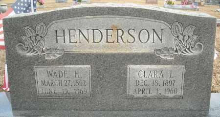 HENDERSON, WADE H. - Faulkner County, Arkansas | WADE H. HENDERSON - Arkansas Gravestone Photos