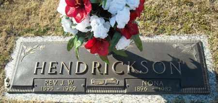HENDRICKSON, REV., J.W. - Faulkner County, Arkansas | J.W. HENDRICKSON, REV. - Arkansas Gravestone Photos