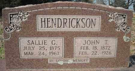 HENDRICKSON, SALLIE G. - Faulkner County, Arkansas   SALLIE G. HENDRICKSON - Arkansas Gravestone Photos