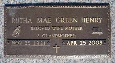 GREEN HENRY, RUTHA MAE (CLOSE UP) - Faulkner County, Arkansas | RUTHA MAE (CLOSE UP) GREEN HENRY - Arkansas Gravestone Photos