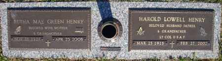 GREEN HENRY, RUTHA MAE - Faulkner County, Arkansas | RUTHA MAE GREEN HENRY - Arkansas Gravestone Photos