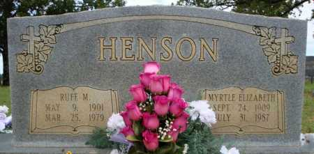 HENSON, RUFE M. - Faulkner County, Arkansas | RUFE M. HENSON - Arkansas Gravestone Photos
