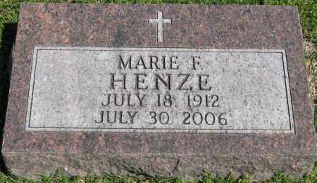 HENZE, MARIE F. - Faulkner County, Arkansas | MARIE F. HENZE - Arkansas Gravestone Photos