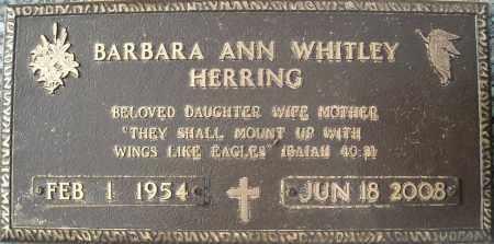 WHITLEY HERRING, BARBARA ANN - Faulkner County, Arkansas | BARBARA ANN WHITLEY HERRING - Arkansas Gravestone Photos