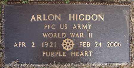 HIGDON (VETERAN WWII), ARLON - Faulkner County, Arkansas   ARLON HIGDON (VETERAN WWII) - Arkansas Gravestone Photos