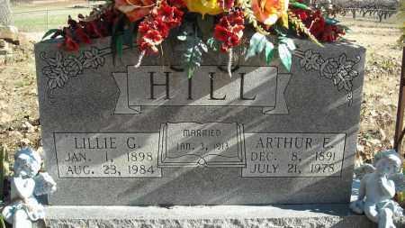 HILL, ARTHUR E. - Faulkner County, Arkansas | ARTHUR E. HILL - Arkansas Gravestone Photos