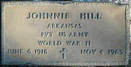HILL (VETERAN WWII), JOHNNIE - Faulkner County, Arkansas | JOHNNIE HILL (VETERAN WWII) - Arkansas Gravestone Photos