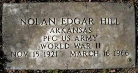 HILL (VETERAN WWII), NOLAN EDGAR - Faulkner County, Arkansas | NOLAN EDGAR HILL (VETERAN WWII) - Arkansas Gravestone Photos